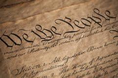 Constitution des USA Photographie stock libre de droits