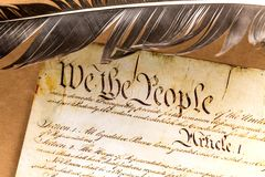 Constitution des USA photo libre de droits