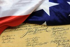 Constitution des USA de la signature de John Hancock Photos libres de droits