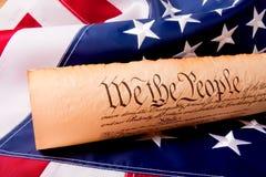 Constitution des USA - nous les gens Photographie stock libre de droits
