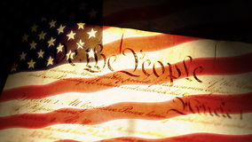 Constitution, drapeau des Etats-Unis illustration stock