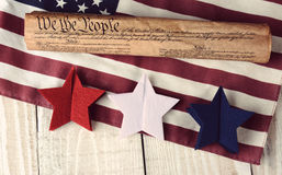 Constitution Flag and Stars Royalty Free Stock Photo