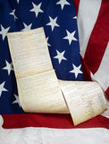 Constitution & Flag Still Life Stock Image