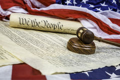 Constitution and Gavel Stock Images