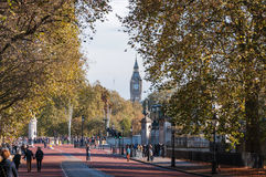 Constitution Hill in London on a sunny autumn day Royalty Free Stock Photography