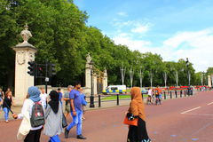 Constitution Hill London. View from Constitution Hill in front of Buckingham Palace,London United Kingdom Stock Photos