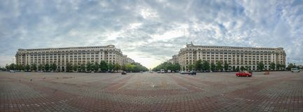 Constitution Square in Bucharest royalty free stock image