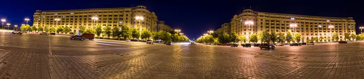 Constitution square in Bucharest Romania Stock Photo