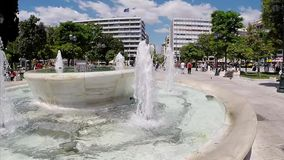 Constitution square in the center of Athens, Greece. stock footage