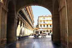 Constitution Square, May 5, 2013 in San Sebastian, Spain. Royalty Free Stock Images