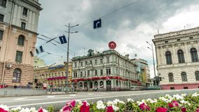 Constitution square with view on Sumskaya street in Kharkiv stock video