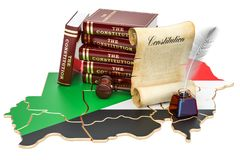 Constitution of Sudan concept, 3D. Rendering Stock Photo