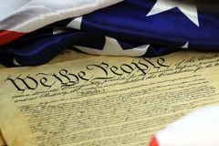 Constitution of the United States - We The People Royalty Free Stock Photography