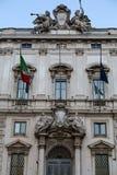 Constitutional Court of the Italian Republic Palazzo della Consulta on Piazza del Quirinale in Rome stock photo