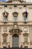 Constitutional Court palace in Rome royalty free stock photography
