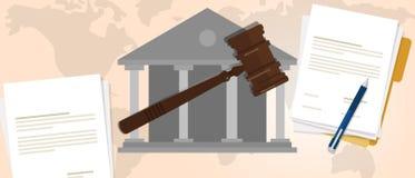 Constitutional law verdict  Royalty Free Stock Photo