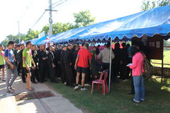 Constitutioneel referendum Khon Kaen, Thailand stock afbeelding
