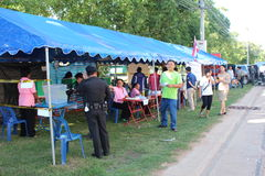 Constitutioneel referendum Khon Kaen, Thailand royalty-vrije stock foto's