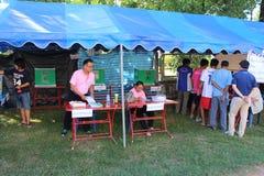Constitutioneel referendum Khon Kaen, Thailand stock afbeeldingen
