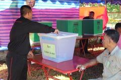 Constitutioneel referendum Khon Kaen, Thailand stock foto's