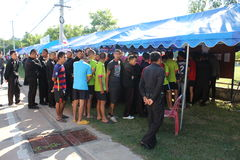 Constitutioneel referendum Khon Kaen, Thailand royalty-vrije stock foto