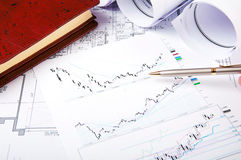 Constraction and finance still life Royalty Free Stock Image