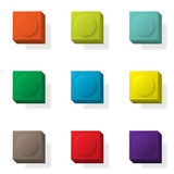 Constraction kit basic 3d. Set of nine 3d constructor elements different colors Stock Photography