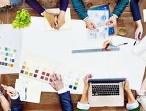 Constraction projekta drużyny spotkania Brainstorming Planistyczny pojęcie Obraz Royalty Free