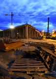 Constraction site at night Stock Photography