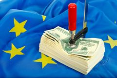 Constraints for the dollar in the EU Stock Photos
