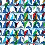 Construção à moda da tecnologia contemporânea, dimensional abstrato ilustração stock