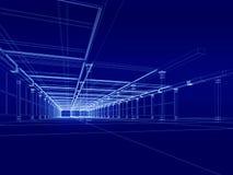 construção 3D arquitectónica Fotos de Stock Royalty Free