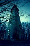 Construção abandonada Derelict assombrada velha fotos de stock royalty free