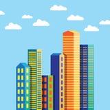 Construção abstrata da cidade Imagens de Stock Royalty Free