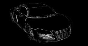 Construção abstrata do carro ilustração stock
