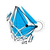 Construção abstrata do vetor, baixo fundo poli dimensional do projeto ilustração do vetor