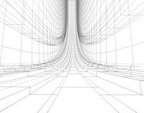 Construção abstrata do wireframe Imagens de Stock Royalty Free