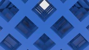 Construção abstrata movente do azul ilustração stock