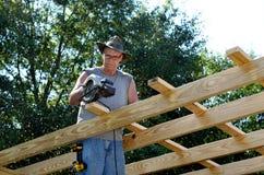 Construção adulta do homem da Idade Média Fotografia de Stock Royalty Free