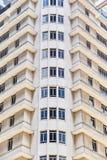 Construção alta do multi-andar em Singapura Close-up imagem de stock