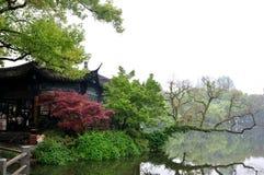 Construção antiga em Hangzhou, China Fotografia de Stock Royalty Free