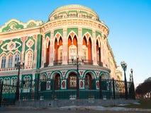 A construção antiga no estilo neogótico Fotos de Stock