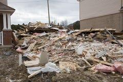 Construção após o incêndio Foto de Stock Royalty Free