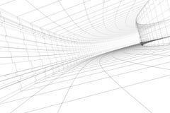 Construção arquitectónica abstrata Imagem de Stock