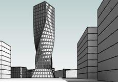 Construção arquitetónica ilustração do vetor