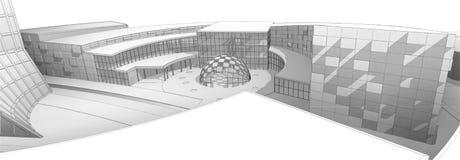 Construção arquitetónica ilustração stock