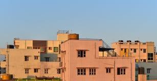 Construção arquitetónica em Bangalore, fotografia conservada em estoque da Índia foto de stock