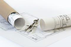 Construção, arquitetura, bens imobiliários Imagem de Stock Royalty Free