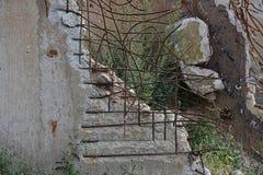 Construção arruinada de uma fábrica com concreto Imagem de Stock Royalty Free