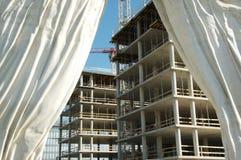 Construção atrás da cortina Fotos de Stock